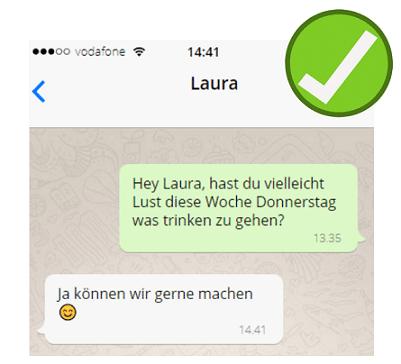 WhatsApp Antwort von der Ex-Freundin