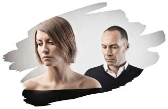 Frau und Man nach einem Streit