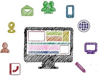Abbildung von Social Media icons