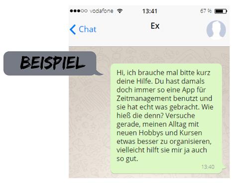 Ex zurück SMS Beispiel