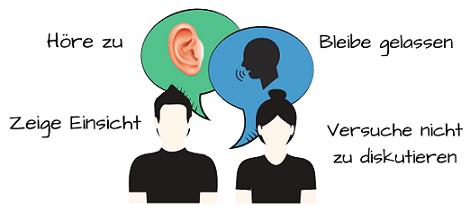 Höre deinem oder deiner Ex beim Gespräch zu