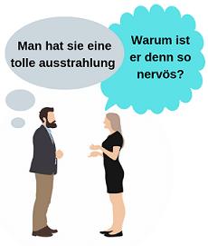 Frau und mann haben ein gemeinsames Gespräch