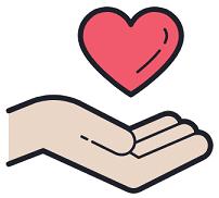 Eine Hand Symbolisch zum Vertrauen