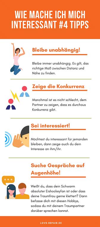 Wie mache ich mich interessant - 4 Tipps - Grafik/Liste