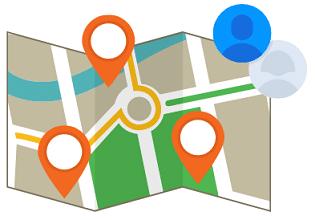 Grafik einer Karte
