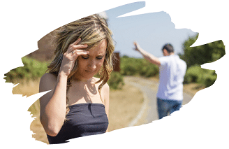 Ein Mann Ignoriert eine Frau